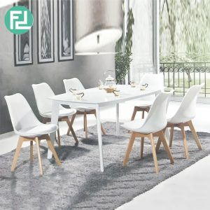 JAXON designer PP shell 6 seater dining set-White