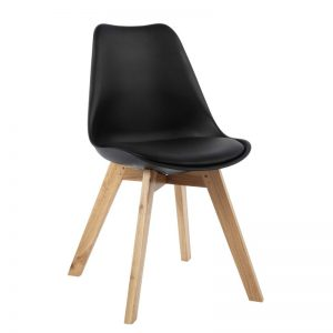 JAXON designer PP shell dining chair-black