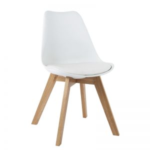 JAXON designer PP shell dining chair-white