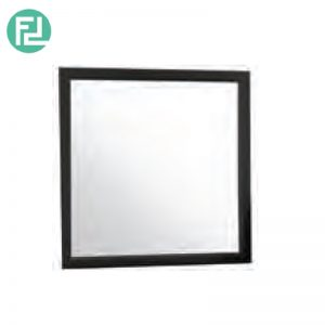 LAN solid wood frame square size mirror-black