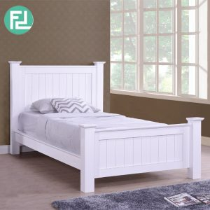 LERWICK solid wood painted super single size bedframe-white