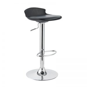 CHICAGO adjustable PU seater barstool-Black