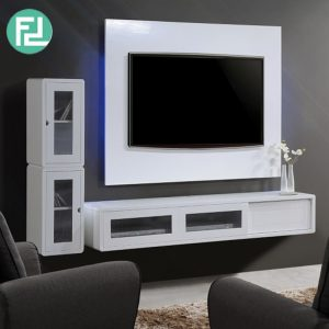 LYON painted finish Wall Mounted TV set-white