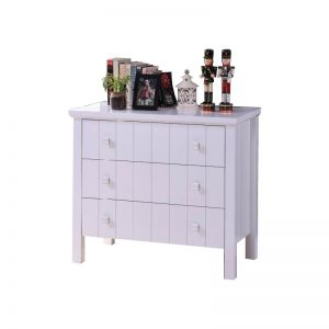 LERWICK solid wood painted 3 drawers chest-white