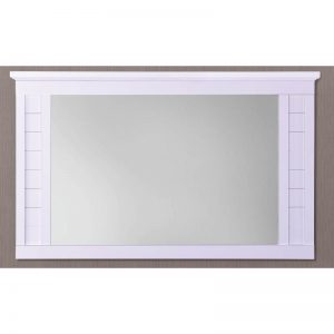 LERWICK solid wood painted mirror-white