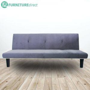 MARIA velvet fabric 3 seater sofa bed-grey