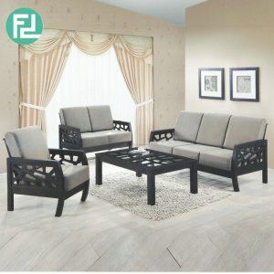 MORONI solid wood washable cover sofa set-cappucino