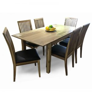 MELTON full solid Acacia Extension 6 seater dining set