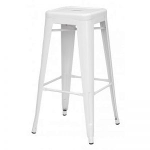 "Clearance-NORA 26"" metal bristo barstool-white (Last 4pcs)"
