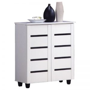BELLA 4 Tier Shoe Cabinet-White