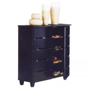 BELLA 4 Tier Shoe Cabinet-Black