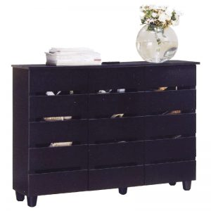 BELLA 3 Door 4 Tier Shoe Cabinet-Black