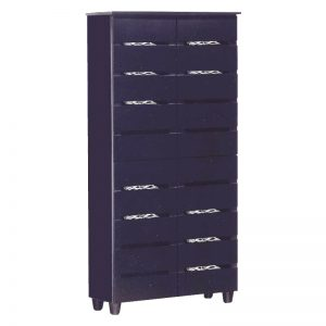 BELLA 8 Tier Shoe Cabinet-Black