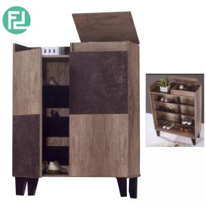 SC 55014-235 shoe cabinet with hidden compartment