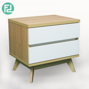 SELENA 2 drawers bedside table-oak