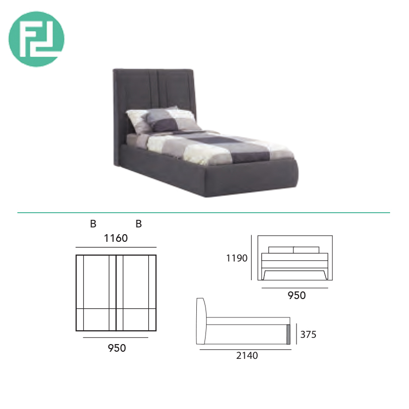 online store b4215 95170 VANI fabric single bed frame
