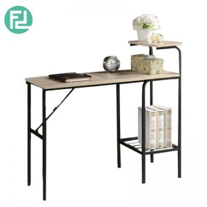 FT10 Space saver foldable study desk table-black