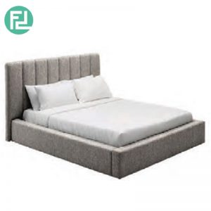 SEBASTIAN queen size fabric bedframe-grey
