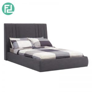 VANI fabric queen size bed frame-Grey