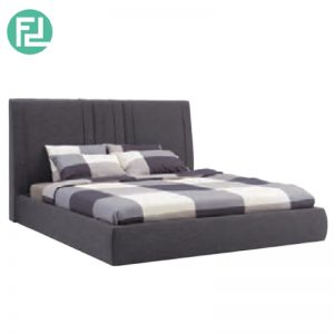 VANI fabric king size bed frame-grey