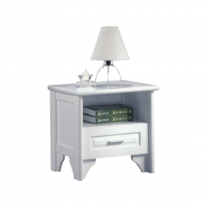 VIRGINIA solid wood bedside table- white