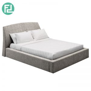 WILLIAM fabric queen size bedframe-grey