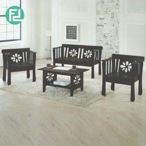 CONNOR solid wood sofa set-cappucino