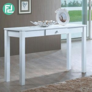 Clearance-GL-UV 4ft solid wood console table-white (Last Unit)