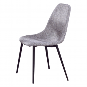 GEORGE designer fabric dining chair-grey