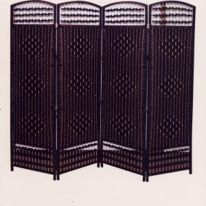 4560 PVC with wooden frame screen divider-brown