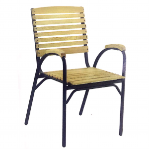 ZLS202 Outdoor Solid Wood Dining Chair