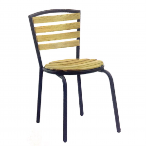 ZLS203 solid wood outdoor dining chair
