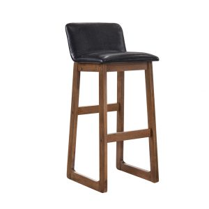 MATILDA solid wood barstool with cushion seat-walnut