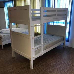 Clearance-solid rubberwood bunk bed able convert to two single bed