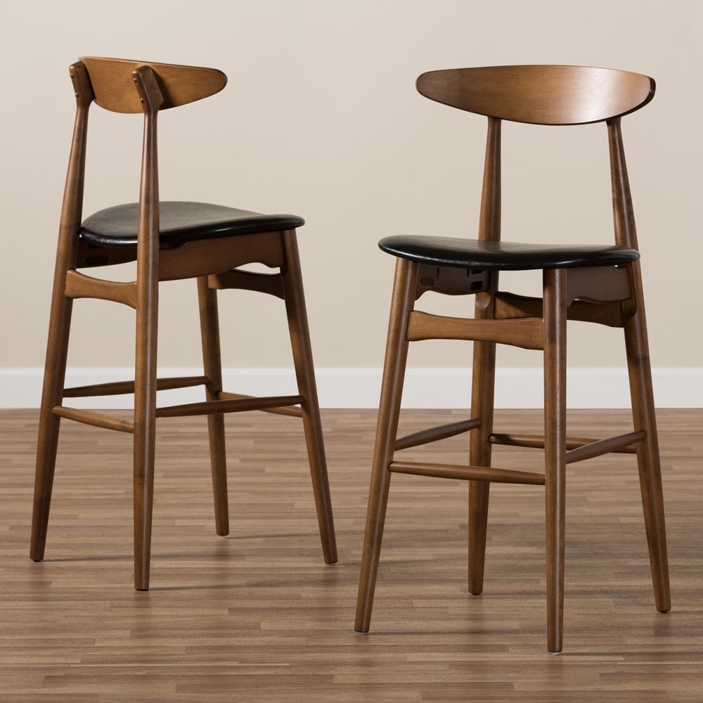 Helsingor Solid 29inc Wood Barstool 2 Colors