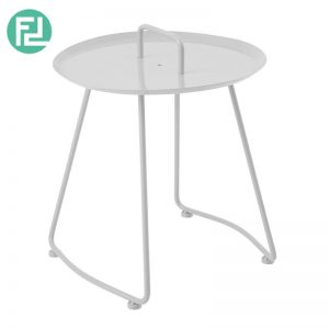 ELLIE scandinavian metal side table-white