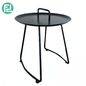 ELLIE scandinavian metal side table-black