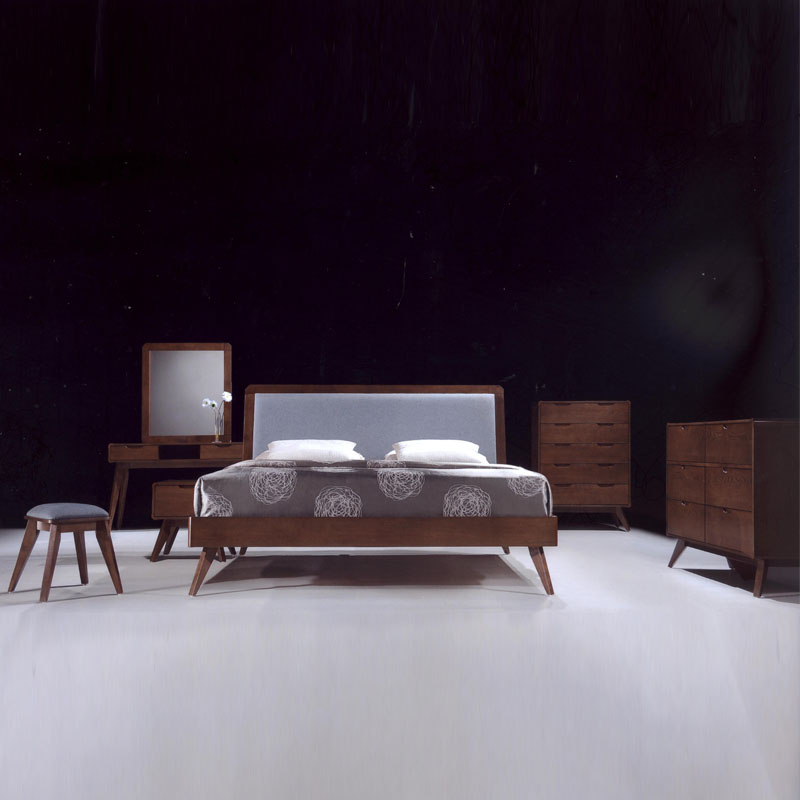 modesto solid wood console table study desk walnut. Black Bedroom Furniture Sets. Home Design Ideas