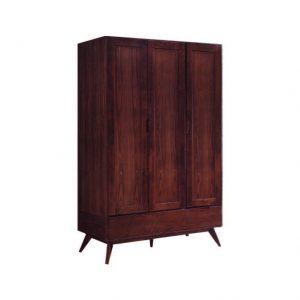 MODESTO Solid wood 3 door wardrobe-walnut