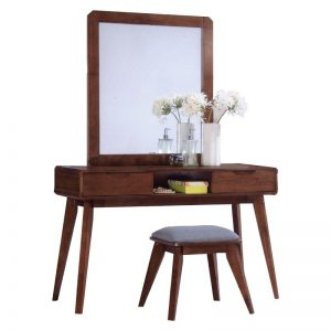 MODESTO Solid wood dressing table set-walnut