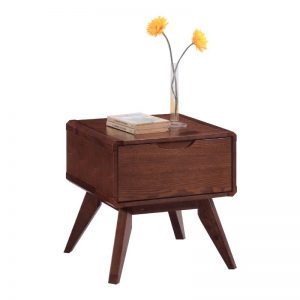 MODESTO Solid wood bedside table-walnut