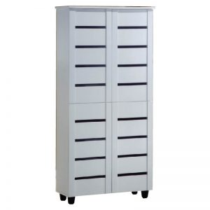 BELLA 8 Tier Shoe Cabinet-White