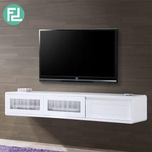 LYON 6ft white painted hanging TV Cabinet-white
