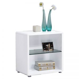 LYON painted finish side table-white