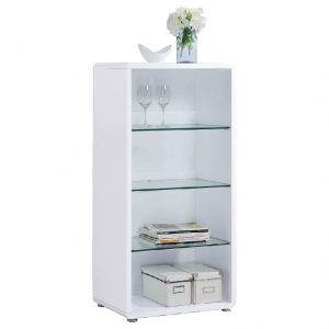 LYON painted finish display cabinet-white