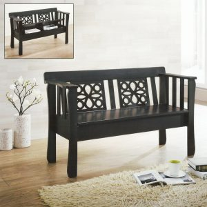 GLORY storage wooden bench-cappucino