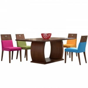 HENRY 6 seater rectangular solid wood dining set-walnut