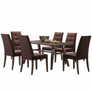 CORAL 6 seater rectangular dining set- Walnut