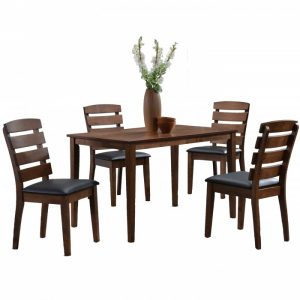 TEXAS 4 seater solid wood dining set-walnut