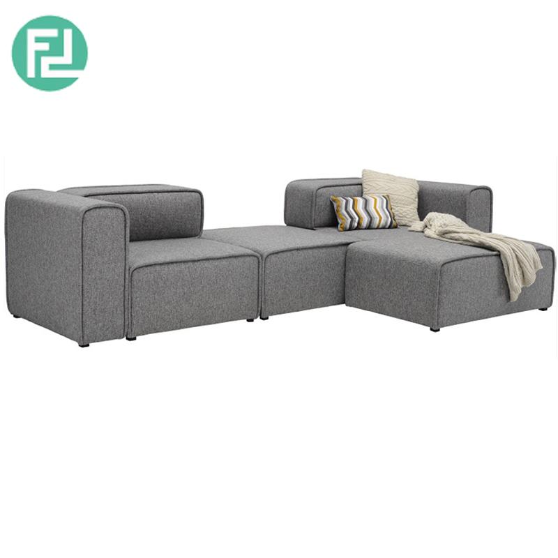 ACURA 3 Seater L Shaped Fabric Modular Sofa